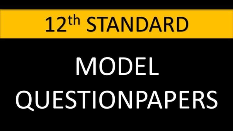 12TH MODEL QUESTIONPAPER