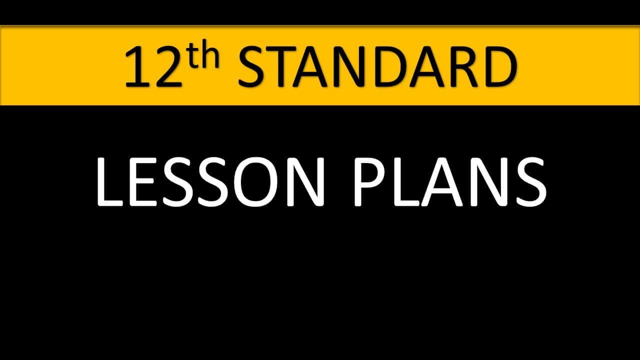 12th lessonplans