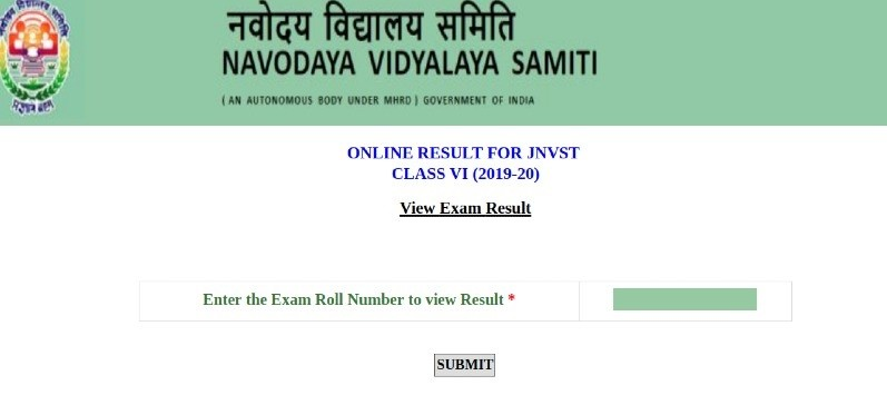 JNVST 2020 Result Class 6: jnv result 2020 class 6 navodaya result 2020
