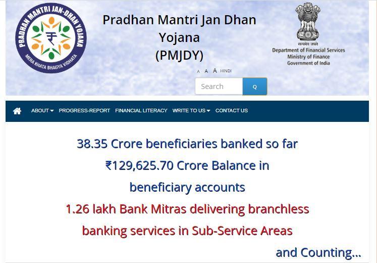 pmjdy.gov.in registration