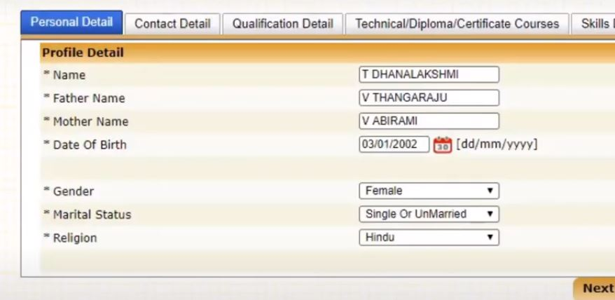 how to register in tnvelaivaaippu exchange