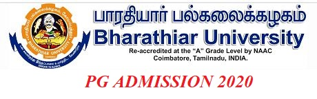 Bharathiar University Pg Admission 2020 21 Apply Online