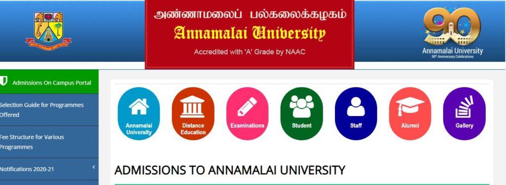 annamalai university admission agri