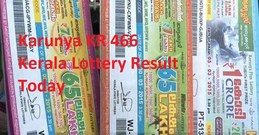 Karunya KR 466 kerala lottery result today
