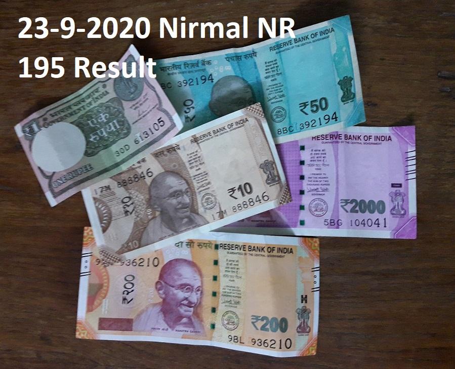 23-10-2020 Nirmal NR 195 Result