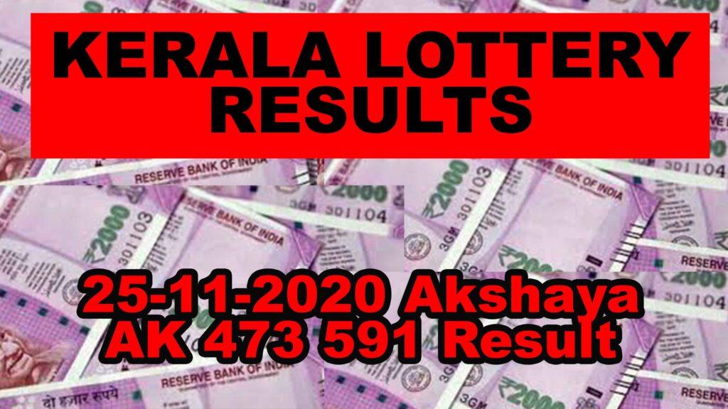 Kerala Lottery Akshaya AK-473 Today Results