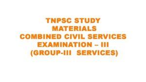 TNPSC GROUP 3 STUDY MATERIALS