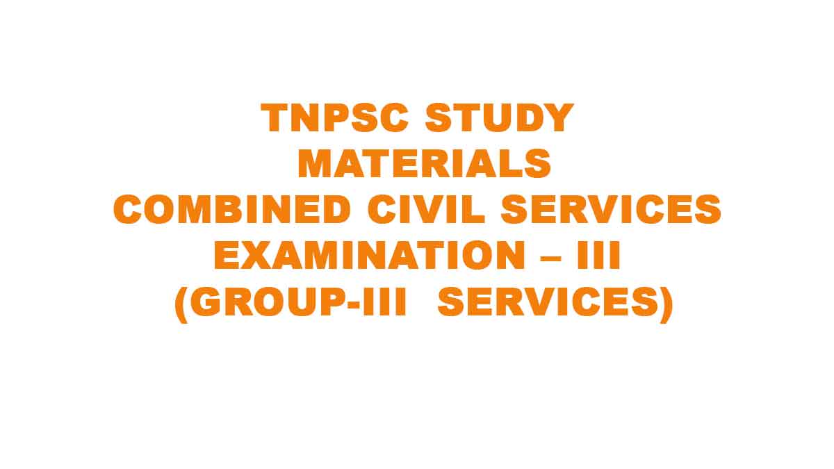 TNPSC GROUP 3 STUDY MATERIALS