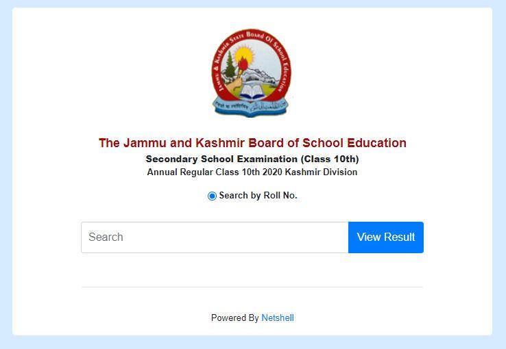 JKBOSE Class 10 Result for Kashmir 2021 (annual regular) declared