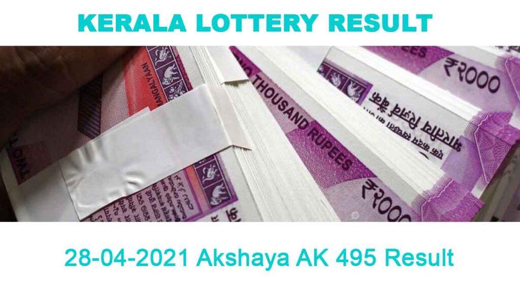 28-04-2021 Akshaya AK 495 Result