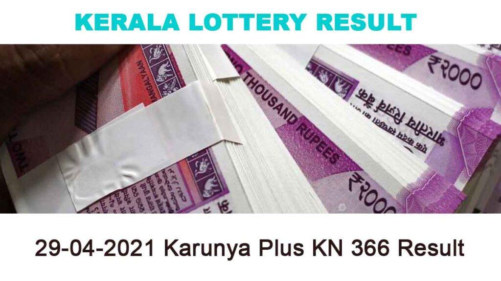 29-04-2021 Karunya Plus KN 366 Result