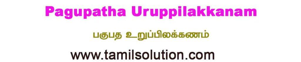 Pagupatha Uruppilakkanam - பகுபத உறுப்பிலக்கணம்