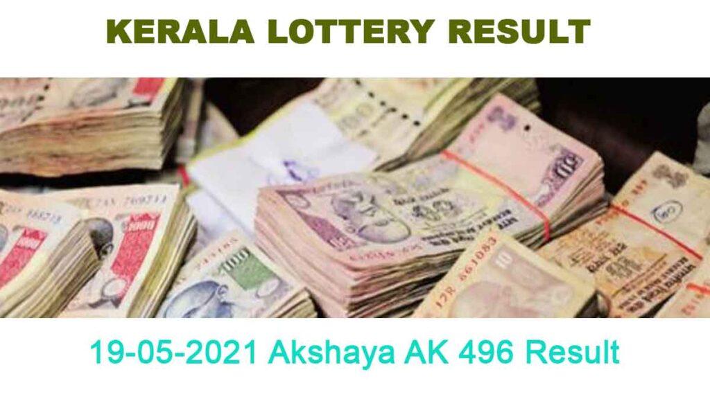 19-05-2021 Akshaya AK 496 Result