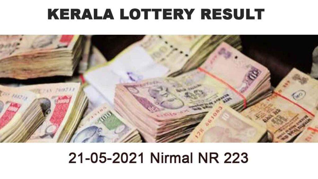 21-05-2021 Nirmal NR 223 Result