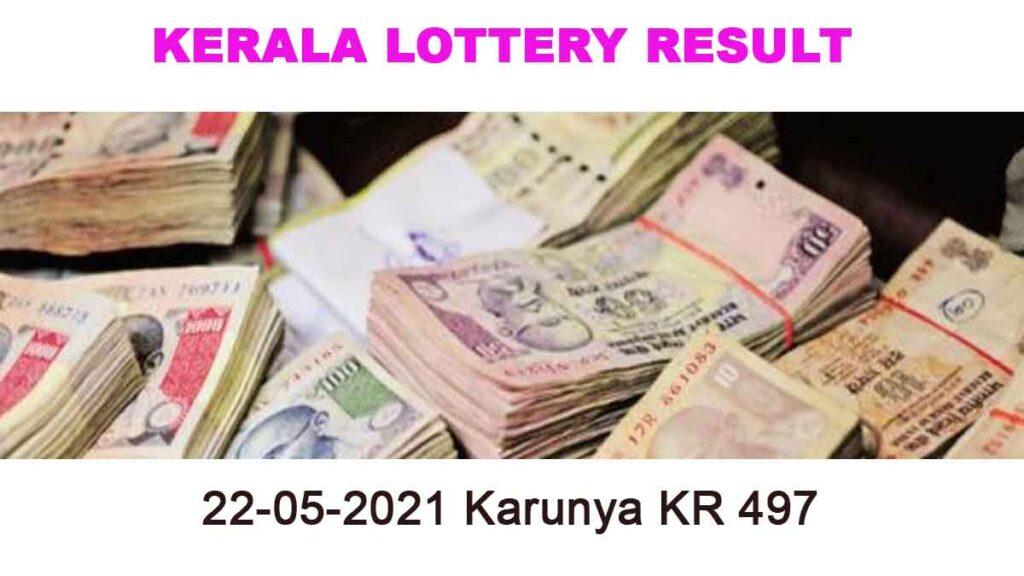22-05-2021 Karunya KR 497 Result