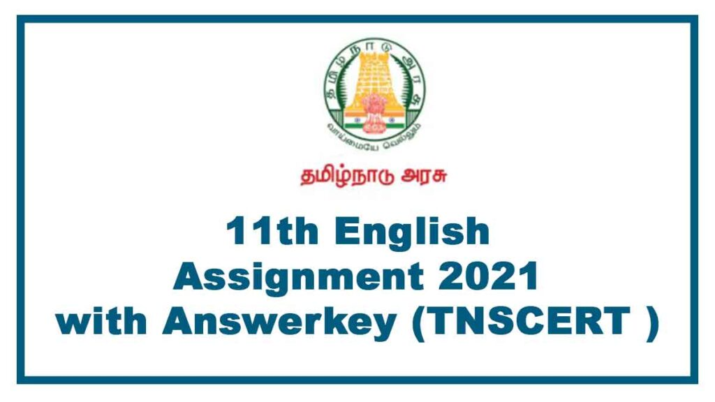 11th english assignment answers 2021