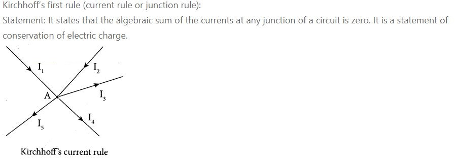 1.State and explain Kirchhoff 's rules